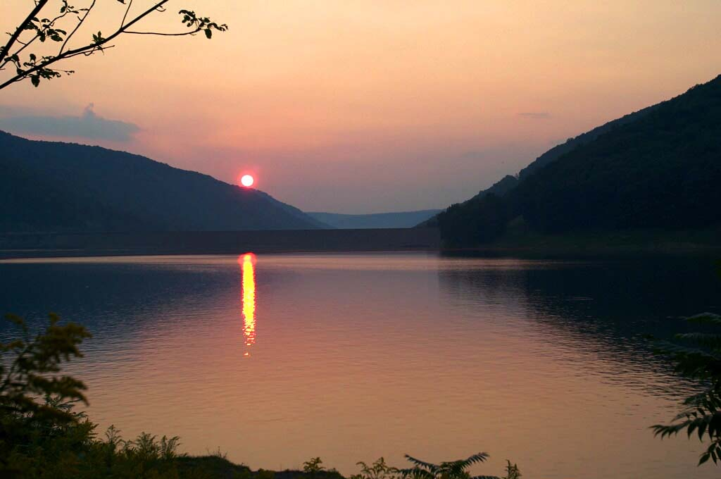 Sunset over Kinzua Dam