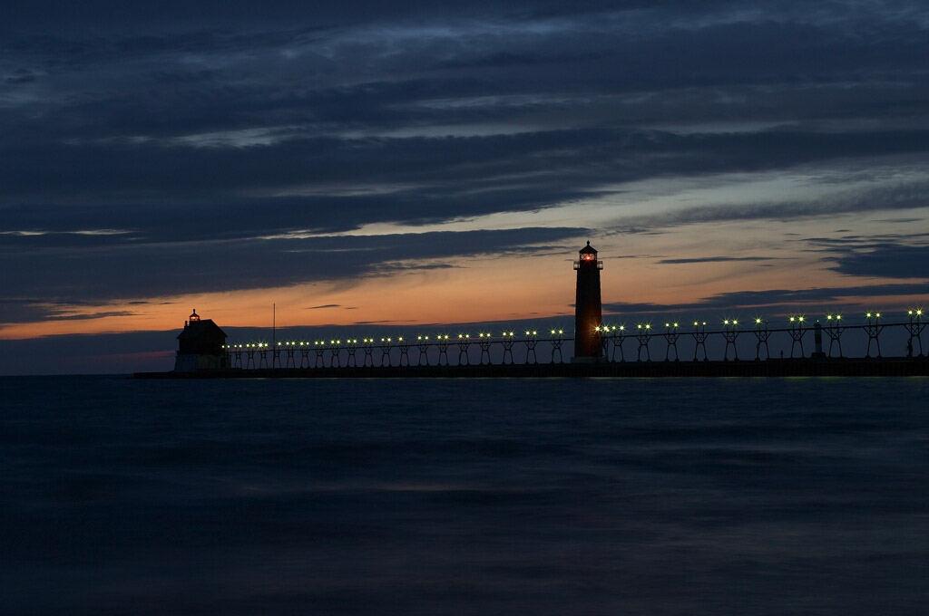 Pierhead lights of grand haven